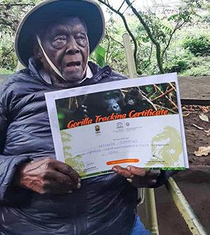 100-year-old marks a century by trekking gorillas in Uganda